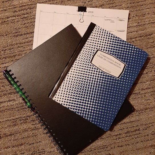 Notebook and Sketchbook and Calendar