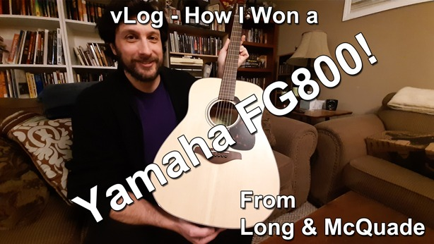 A.P. Fuchs vLog How I Won a Yamaha FG800 Guitar