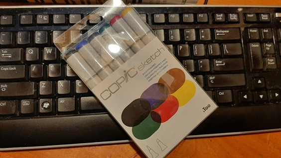 Copic Markers and Keyboard