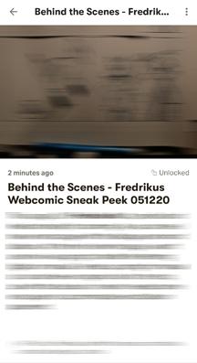 Fredrikus Patreon Behind the Scenes tier